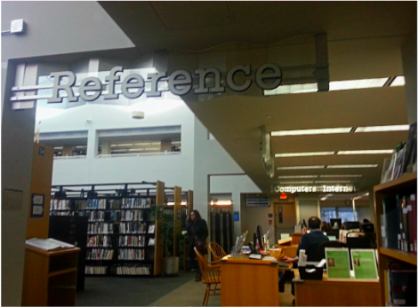 Just bring your questions The reference desk is a great resource at the Westport Public Library allowing students to ask for copies of pages of books, help with technology, or even help with research.