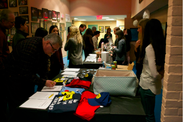 The people who came to the fashion show supported Best Buddies by participating in the silent auction.
