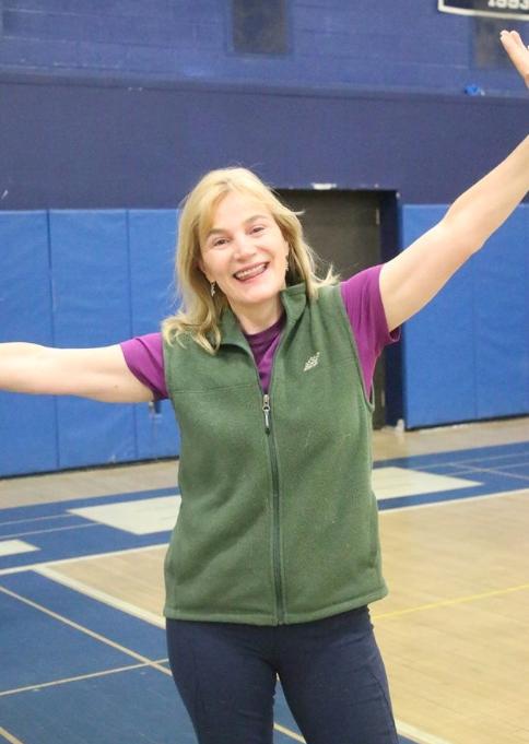 Maureen Cadden brightens up the gym