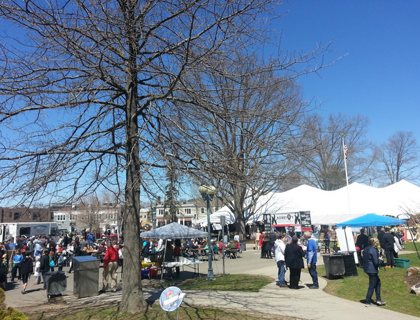 This year there were over 100 'makers' who chose to exhibit the fruits of their tinkerings at one of the many booths, which were stationed either inside the library or on Jesup Green.