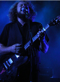 My Morning Jacket's Jim James performs live at San Diego State University's Open Air Theatre on September 25 of their 2008 United States tour.