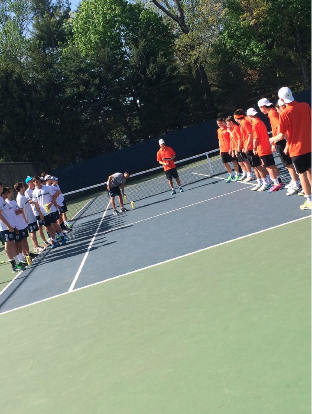 Varsity boys' tennis dominates the court