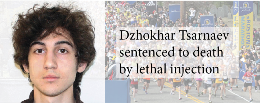 Dzhokhar Tsarnaev sentenced to death by lethal injection