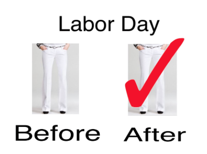 Wearing white after labor day… It's ok!