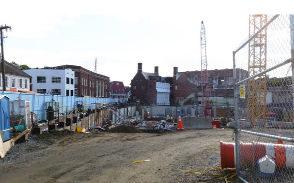 Bedford Square construction is one third complete