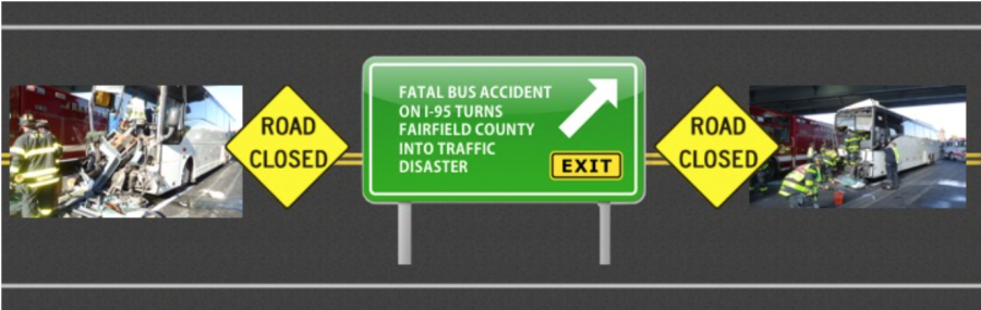 Fatal bus accident on I-95 Turns Fairfield County Into Traffic Disaster