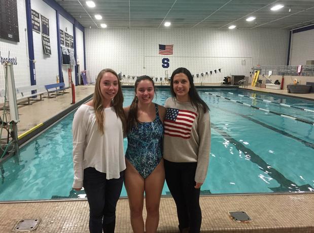 Girls swim and dive splashes into the FCIAC elite