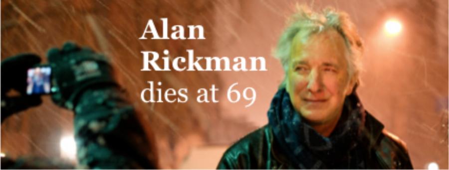 British actor Alan Rickman dies at age 69