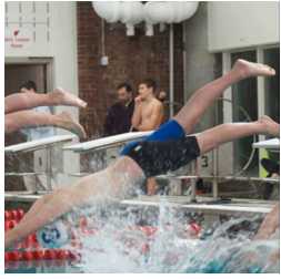 Swim team sophomores make a splash
