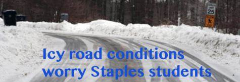 Icy road conditions worry Staples students