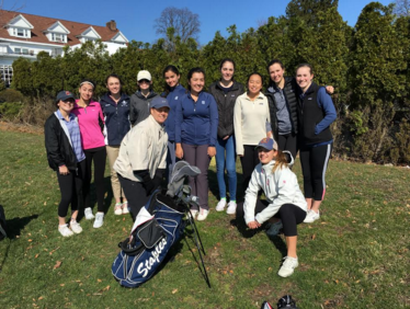 Girls golf swings into the new season