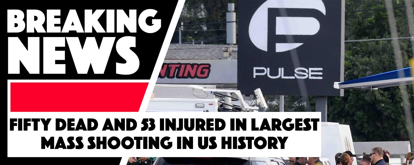 50 dead and 53 injured in largest mass shooting in United States history