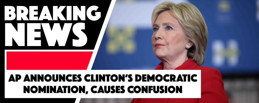 AP announces Clinton's Democratic nomination and causes confusion