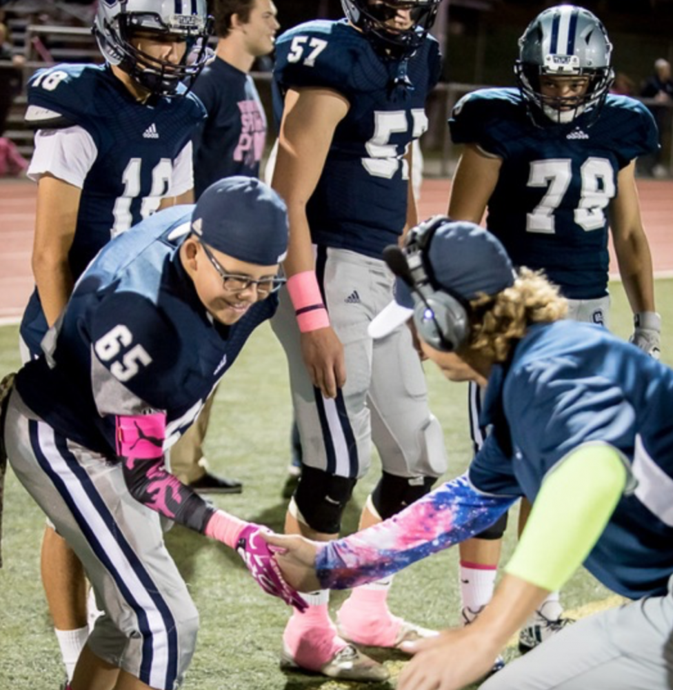 Dylan Curran inspires varsity football family