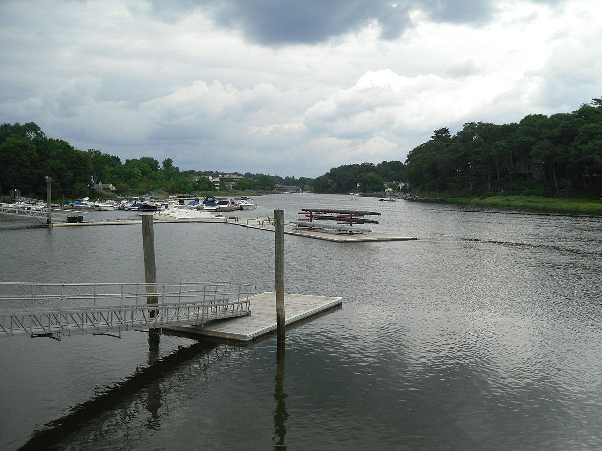 Staples cleans the Saugatuck River