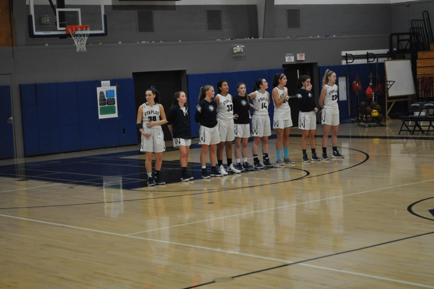 Tough Loss for Staples Girls' Basketball Against Trumbull