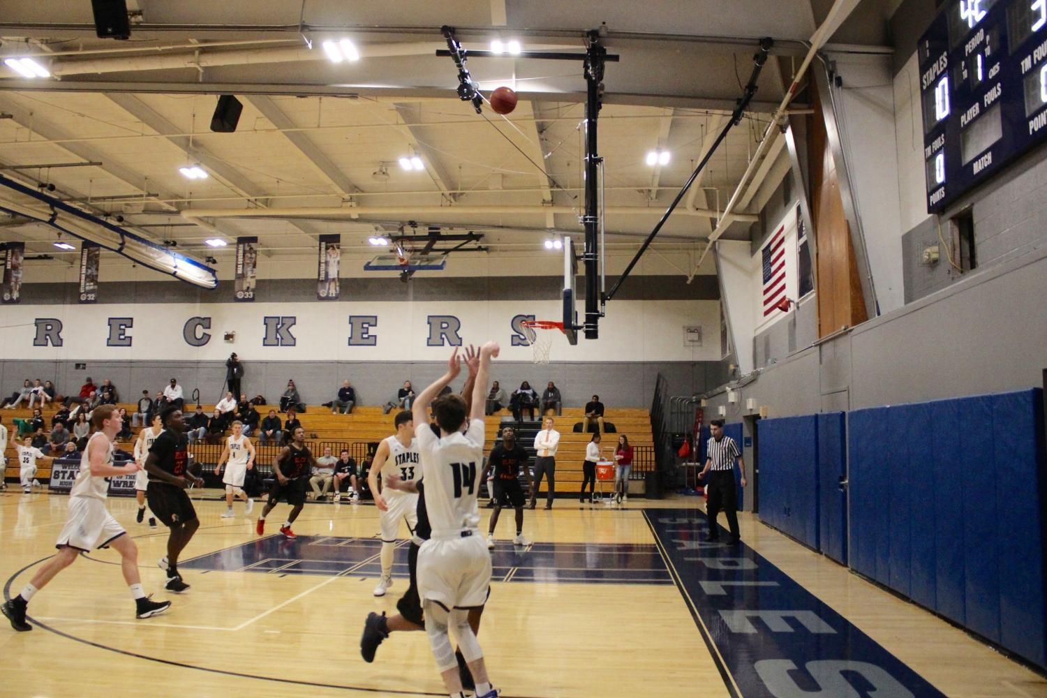 Boys' basketball senior night results in defeat against Stamford
