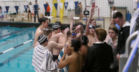 Staples boys' swim team celebrates senior day with overwhelming victory over Fairfield