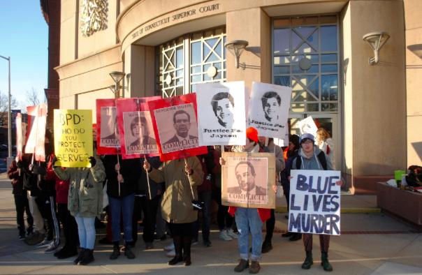 Bridgeport residents protest after police officer released