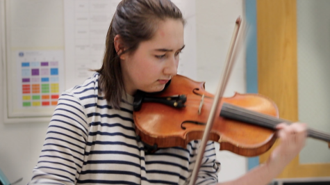 Humans of Staples: Schmidt flourishes in violin performance