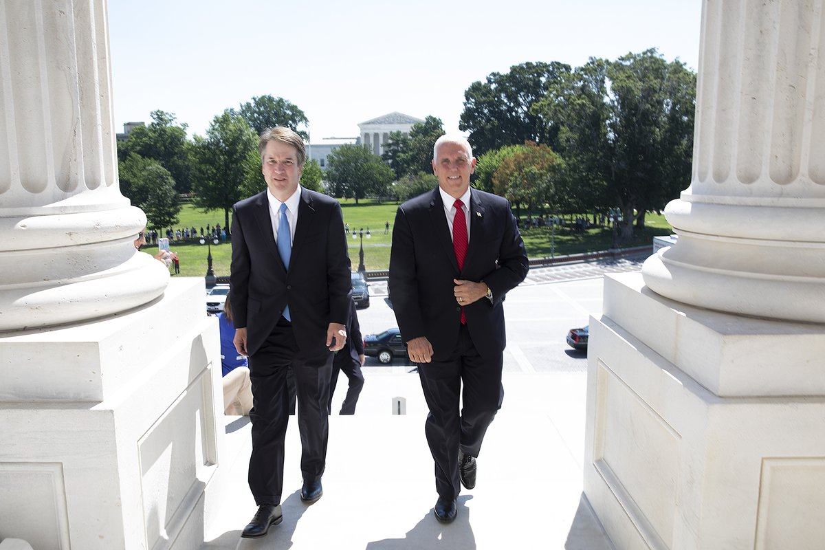 Kavanaugh nomination backed, pending FBI investigation