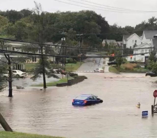 Torrential flash floods strike in Westport
