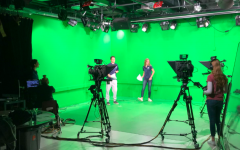 Members of Good Morning Staples film an episode of their biweekly show.