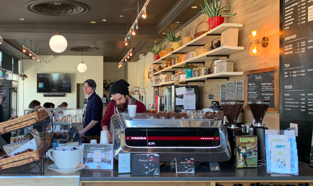 Shearwater Coffee Bar offers students an alternative place to enjoy freshly brewed organic coffee and pastries