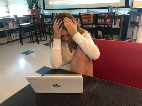 As finals approach Claire Fisher'22 crams for her multiple tests. She is stressed but excited for the end of the year to come.