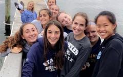 Girls' soccer team bonds prior to season