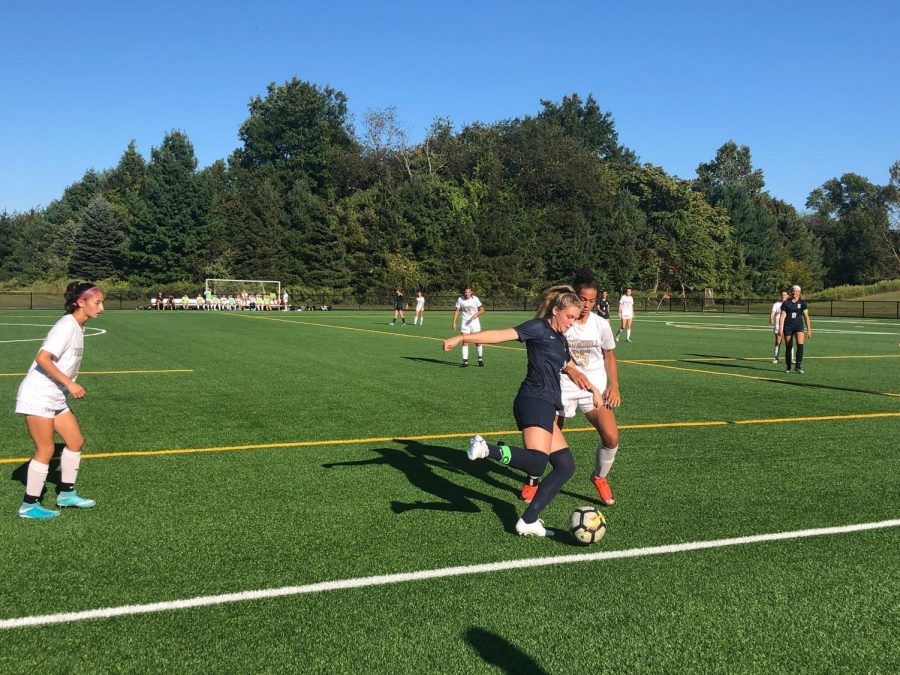 After+a+successful+preseason+and+start+to+their+season%2C+varsity+girls%E2%80%99+soccer+defeated+Trumbull+High+School+in+a+6-3+win+at+the+highly+attended+game+at+Wakeman+field+on+Wednesday%2C+Sept.+25.