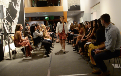 Rachel Greenberg '22 models in local fashion show