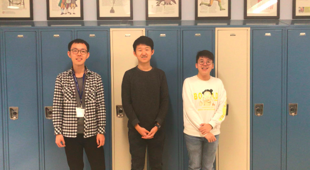 Exchange students, Jiaheng Yin (middle), Camillus Low (right) and Zhang Dingyuan (left) shared their experiences, explaining the differences between life in Singapore and the United States.