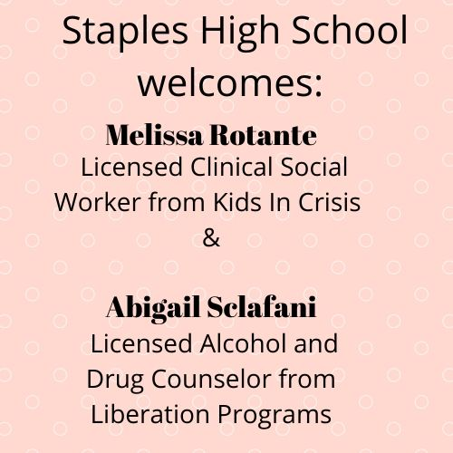 Staples community expands student outreach program with two new counselors
