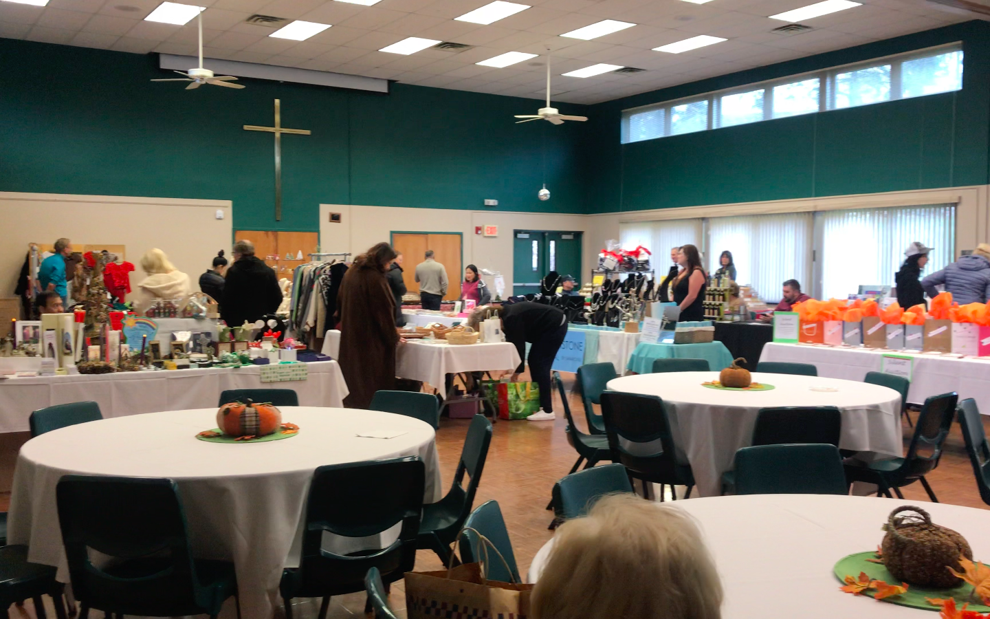 The Saint Luke's Church opened its doors for the Westport community to shop for a unique selection of vintage accessories, treats and holiday gifts.