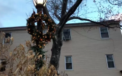 Downtown Westport prepares for the holidays with lights and wreaths. Businesses such as Anthropologie take their decorations very seriously,  covering the area around their front door with an array of ornaments.