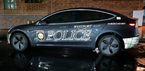 The Westport Police Department bought a Tesla Model 3 to be one of their squad cars, which cost the town about $52,000.