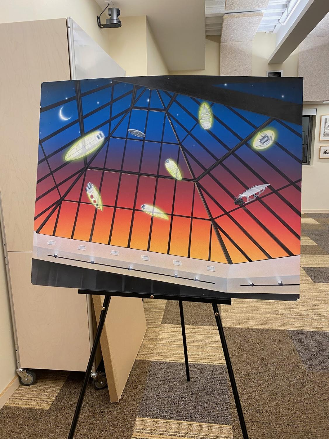 One of Mark Yurkiw's pieces at his event at the Westport Library on Jan. 6.