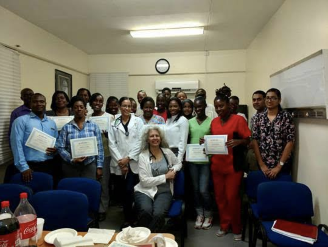 Radiology specialists volunteering with Rad Aid help educate other doctors on Grenada in order to create an effective radiology program.