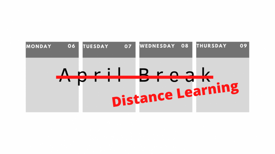 The Board of Education voted to cancel April vacation for the 2019-20 school year. Students will continue doing online lessons through the district Distance Learning model on April 6 through April 9. There will be no virtual teaching on Good Friday, April 10.