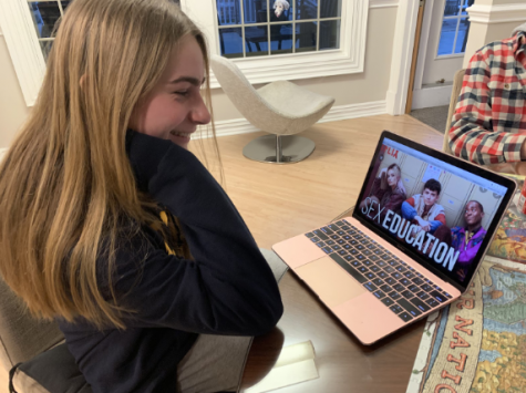 Erica Fanning '20 finishes the last few episodes of the second season of Sex Education.