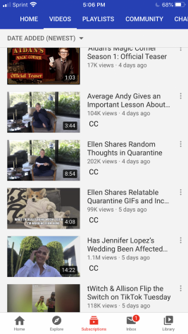 On Ellen's Channel she opens up about quarantine while adding humor to the whole situation. She reassures people that everything is going to be okay.