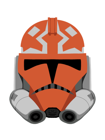 A 332nd Battalion Clone Trooper Helmet