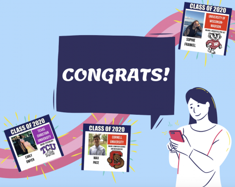 Seniors have taken initiative to virtually celebrate post-high school plans, such as creating Instagram accounts featuring those who have committed to college.