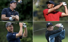 Four of sports best athletes compete in golf match for charity.