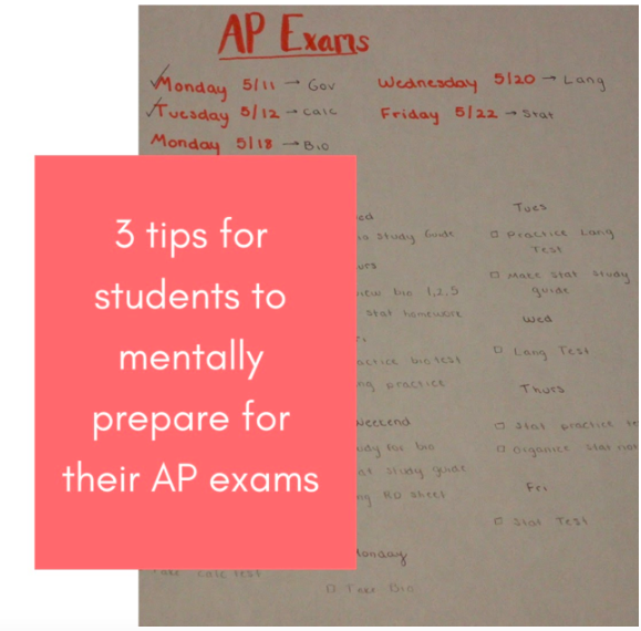 Three tips for students to mentally prepare for their AP exams