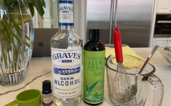 This easy sanitizer recipe only has three ingredients: alcohol, aloe Vera gel, and essential oil. Remember to rub in the sanitizer for at least a minute to kill the most germs.