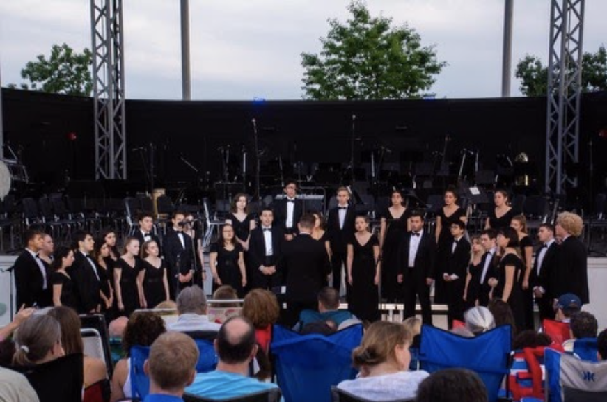 Orphenians concerts cannot occur as they have in previous years such as in this performance at the Levitt Pavilion last year. Orphenians will miss performing to a live audience, which is a favorite part of the choir for many.