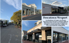 Graphic of photos of storefronts on Main Street in downtown Westport.