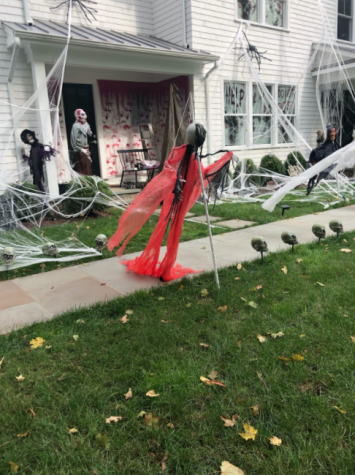 Residents of Westport put exuberant decorations on their houses and in their yards to get in the Halloween spirit.